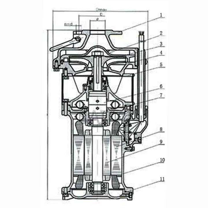 式潜水电泵结构图
